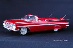 1959 IMPALA 3 (DOLPHIN☆CRAFT) Tags: 1959 chevrolet impala convertible monogram シボレー インパラ コンバーチブル モノグラム プラモデル