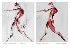 CROQUIS I RØDT DUO   Croquis in red (Svein Erik Larsen) Tags: monoprint monotypi croquis humanfigure abstractfigure art kunst