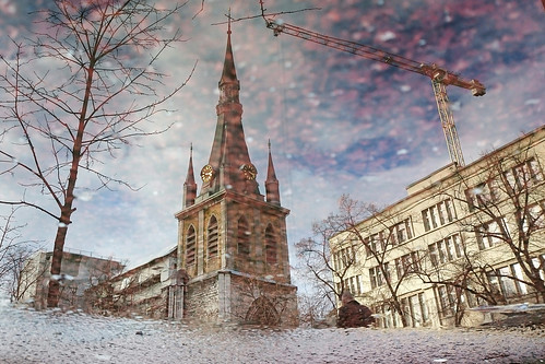 Cathédrale Saint-Paul, reflet (Liège 2017)