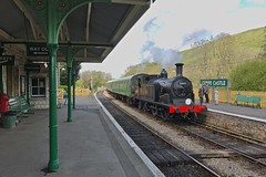 Drummond M7 (Deepgreen2009) Tags: drummond m7 tank steam ukstem swanage preserved railway train corfecastle rural branch station arrival southern br