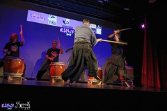 Comicdom Con Athens 2017: On stage: Athens Bushido Center (SpirosK photography) Tags: comicdomcon comicdomcon2017 comicdomconathens2017 athens greece convention spiroskphotography cosplay costumeplay onstage stage performance athensbushidocenter abc samurai drums