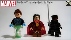 Hydro-Man, Mandarin & Blade (Random_Panda) Tags: marvel lego figs fig figures figure minifigs minifig minifigures minifigure purist purists character characters comics superhero superheroes hero heroes super comic book books films film movie movies tv show shows television hydroman mandarin blade hydro man iron