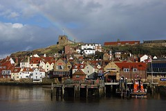 The end of the rainbow (WISEBUYS21) Tags: whitby north yorkshire moors moor seaside end rainbow church abbey jetty houses white orange clay beautiful light dark skies rainy shower sun boat life reflection reflections captain cook hill steep pub club wisebuys21 enelnorestedeinglaterra norte danslenordestdel'angleterre nord imnordostenvonengland norden nelnordestdell'inghilterra inhetnoordenvanengeland noordoosten idennordligedelafengland koillisenglannissa pohjois landskap landskab maisema paysage landschaft paesaggio paisaje campo campagne campagna lanscape seascape dracula river esk water salt