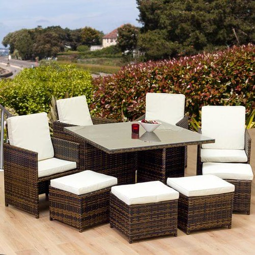 10 Creative Decor With Rattan Cube Set Garden Furniture You Will Loved