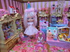 The Dolly Shop (Primrose Princess) Tags: takara blythe doll blythedoll customblythe morganorton pinkalpacareroot atomicblythe dollshop birthday birthdayparty shoppingspree vintagedolls barbie lalaloopsy dollhouse pink gold vintage princess lolita display shoppingcart partyhat spoiled spoiledrotten kewpie ballerina posedoll nestingdoll schildkrot miniature suzygoose