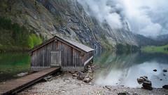 obersee I (>>nicole>>) Tags: alpen alps bavaria bayern berchtesgadenerland bgl boardwalk cabin clouds holzhütte hütte lake langzeitbelichtung longexposure ndfilter obersee see steg wolken
