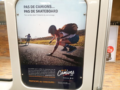 Pas de camions, pas de skateboards (Exile on Ontario St) Tags: pas de camions skateboard skater skaters skate board sk8 girl woman ad advertising advertisement pub publicité métro montreal transit transport commute train subway metro montréal skatergirl formation école education carrière lobbying camionnage pasdecamionscom pasdecamions invisible disappear original skateboards skateboarding road street