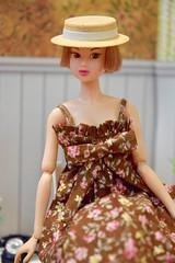 Portrait of Molly (Girl Least Likely To) Tags: momoko sekiguchi ooak bob redhead shorthaired dress asianfashiondolls japanesetoys dolls dollhouse dollscene dollroom diorama miniatures toys office craftroom hat brown