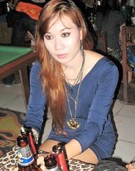 Portrait, serious lady in a blue dress (rodeochiangmai) Tags: ladies chiangmaithailand thailadies asianladies portrait bluedress