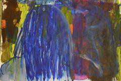 Du hattest die Welt angesehen (raumoberbayern) Tags: abstract acryl acrylic black blau blue dina1 malerei painting paper papier robbbilder schwarz