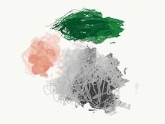 Patsy No. 4 (m.hunter.art) Tags: abstract abstractpainting abstractart art artist artists astractart painting gray grey green pink