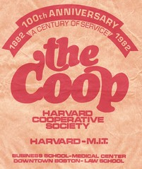 "Cooped Up for a Century - ""Massachusettss is one place I have been"" / ""You won't read about it in the Pig Press"" (ramalama_22) Tags: harvard cooperative society cambridge massachusetts university square shopping bag coop 1882 1982 book clothing record store iranian khomeini white trench coat mirror sun glasses brighama ice cream cone winter february leaflet phonograph camera telephoto lens hippy sandwich board socialist worker newspaper pig press undercover fbi pentagon papers daniel ellsberg"