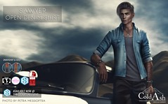 NEW! SAWYER OPEN DENIM SHIRT @ SIGNATURE EVENT MAY (coldashsl) Tags: sl menswear mens mesh clothing fashion male shop coldash cold ash tmd department project themeshproject slink physique signature gianni fittedmesh fitmesh denim shirt open