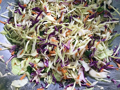 Mardi Gras Slaw (Darren Shannon) Tags: darrenshannon iphone7 cameraphone longbeachcalifornia longbeach california iatethis imadethis cookinglight eating lunch food coleslaw march252017