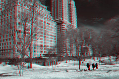 New York, New York (DDDavid Hazan) Tags: newyorkcity nyc newyork ny centralpark central park snow ice winter fifthavenue anaglyph 3d bw blackandwhite bwanaglyph 3danglyph 3dstereophotography redcyan redcyan3d stereophotography stereo3d