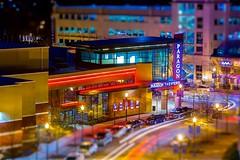 Movie Night (mrbrkly) Tags: newport news newportnews virginia tiltshift movie theater paragonmovietheater paragon citycenter nighttime