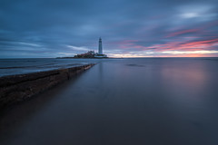 Brief Moments in Time [Explored] (russellcram) Tags: nikon sunrise st marys lighthouse clouds long exposure lee little stopper water smooth
