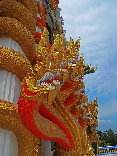 serpents at Thai Temple