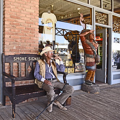 Longing for Times Past (Runemaker) Tags: cowboy indian nativeamerican wildwest frontier tombstone arizona