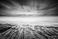 Leading lines (PixPep) Tags: hammarö karlstad fiskvik värmland sverige longtimeexposure rocks blackandwhite monochrome clouds