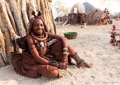 Himba Woman 8837 (Ursula in Aus) Tags: africa himba himbavillage namibia otjomazeva