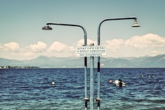 Day 101 : Is for ... The Restrictions (Konstantinos Karnaros) Tags: beach shower shampoo restriction sea sky 365 greece