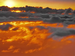 Caribbean sunset in the air (gerard eder) Tags: world travel reise viajes america centralamerica mittelamerika caribbean caribbeansea caribe karibik colombia isladesanandrés sanandresisland johnnycay johnnycayisland cayodejohnnycay clouds wolken nubes sunset sonnenuntergang puestadesol aerial aerialview aerialviews vistaaerea above caribbeanflickrgroup