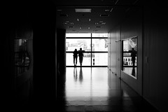 Outlook (maekke) Tags: tokyo japan shibuya silhouette reflection man woman couple travelling bw noiretblanc highcontrast streetphotography 35mm fujifilm x100t 2017 hikarie
