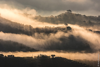 Sunrise after a foggy day - Comares, Spain