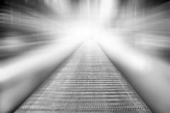 hunting for a mistery... (eggii) Tags: mono bw nikon escalator light project 365 monochrome minimalism