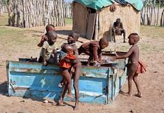 Himba village children - Kaokoland, Namibia. (One more shot Rog) Tags: himba etosha erongo opuwo kaokolandvillage tribe tribes tribal himbatribe namibia safari himbavillage himbawoman himbapeople himbagirls africa africansafari traditional tradition pnemoreshotrog rogersargentwildlifephotography