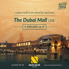 Nucleus Trivia!   The largest mall in the world by total area is the Dubai Mall located in Dubai, United Arab Emirates, it is part of the 20-billion-dollar Downtown complex, and includes 1,200 shops.  #Kerala #Kochi #India #Architecture #Home #Constructio (nucleusproperties) Tags: dubai beautiful life kochi elegant style kerala realestate lifestyle india luxury comfort museum nature architecture interior gorgeous design elegance environment beauty building exquisite view mall city construction atmosphere home