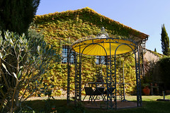 I would loved to stay there for the rest of my life, but they sayd I had to back my home! :( (LaDani74) Tags: tuscany countryside castelmuzio siena italy house nature gazebo ivy spring valdorcia