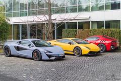 Swiss Style (Beyond Speed) Tags: lamborghini gallardo superleggera ferrari f12 f12tdf tdf mclaren 570s supercar supercars car cars carspotting nikon v8 v10 v12 grey yellow red geneva geneva2017 switzerland combo