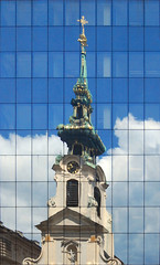 Church reflected (Carlos ZGZ) Tags: 2d ccby carloszgz reflections cmstoolsphotoring viena austria notags correctedperspective freeculturalworks openlicense creativecommons freepictures photoshop vertical line distorsion correction retouch remix collage photomontage manipulation photomanipulation adaptation transformation mirror miroir espejo reflejo reflejos reflet reflets glace