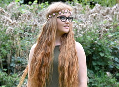 Glance away. (pstone646) Tags: portrait beauty pretty youngwoman younglady people longhair redhead glasses