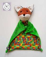 Fox Blanket Multi Color (Polar Bear Creations Dolls) Tags: blanket blanky cozy babytoy toddlertoy babyshower waldorf waldorfinspired natural naturaltoy schmuse