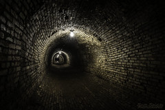Tunnel (Scott Shields Photo) Tags: traverse city mental state hospital tunnel steam pipe 2017 underground bricked