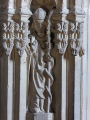 St Patrick (Aidan McRae Thomson) Tags: worcester cathedral worcestershire medieval sculpture carving statue