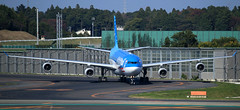 "Air Tahiti Nui A340-300 F-OLOV with special ""15 Years"" stickers taxiing at NRT/RJAA (Jaws300) Tags: air tahiti nui a340300 folov taxiing airtahitinui a340 a343 airbus airlines nrt rjaa japan tokyo airport international ramp apron taxiway tight fence nuka hiva"