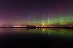 Adventures in life-149 (Ken Wiebe) Tags: april april2017 aurora auroraborealis barn green hilliersresvoir northernlights purple red spring trees