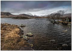 Rannock moor morning clouds (Hugh Stanton) Tags: lake tarn tree mountains rocks appicoftheweek