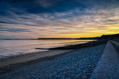 Amroth (Red King (Rory)) Tags: sea seascape sky beach groyne amroth sunset clouds