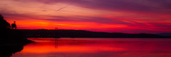 Soft Vibrant Sunset (Brian Travelling) Tags: hunterston ayrshire northayrshire scotland vibrant sunset sunsetsandsilhouettes red hues purple water firthofclyde