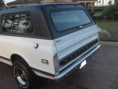 71K5Blazer_2k_tail (Monaco Luxury) Tags: auto bar 1971 ps pb stereo chevy 350 roll custom blazer resto k5 pristine frameoff