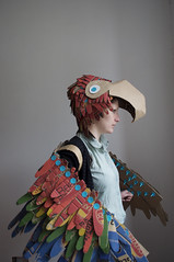 Makedo Parrot (lottie smith) Tags: bird costume wings rainbow play feathers dressup parrot cardboard recycling macaw fancydress reuse birdcostume makedo cardboardsculpture parrotfancydress