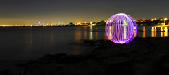 "Brighton LED (Andrew Fleming Photography) Tags: lightpainting reflection beach water canon reflections landscape nightscape orb australia melbourne andrew victoria 7d waterscape fleming lapp andrewfleming canonef2470 canoneos7d ""canoneos7d"" ""andrewfleming"""
