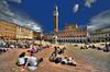 Siena, Tuscany (R.o.b.e.r.t.o.) Tags: people italy nikon italia si tourists tuscany siena roberto toscana sigma1224mm palio turisti piazzadelcampo palazzopubblico torredelmangia d700 hdr5raw