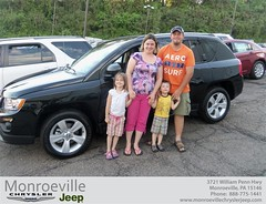 Monroeville Chrysler Jeep would like to say Congratulations to Kristen Bramson on the 2013 Jeep Compass (Monroeville Chrysler Jeep) Tags: new car sedan truck wagon happy pittsburgh jeep pennsylvania used vehicles pa bday chrysler van minivan monroeville suv coupe dealership shoutouts hatchback dealer customers 4dr 2dr preowned