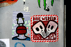 stickers (wojofoto) Tags: streetart amsterdam graffiti stickerart stickers wojo monmort wojofoto